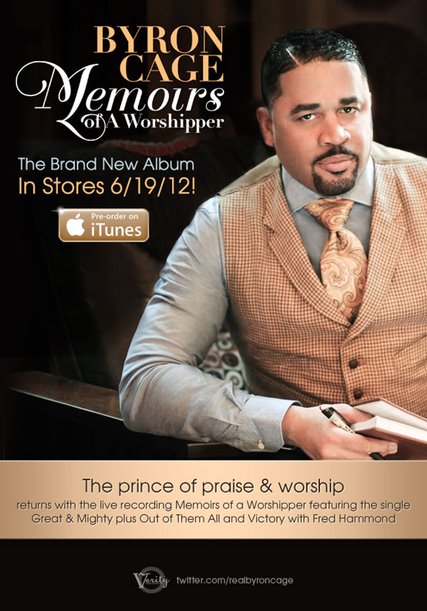 Pre-Order Byron Cage's Brand New Album 'Memoirs Of A Worshipper'