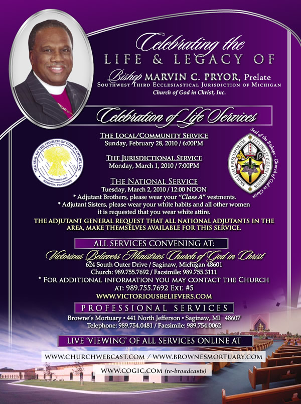 Celebration of Life Services
