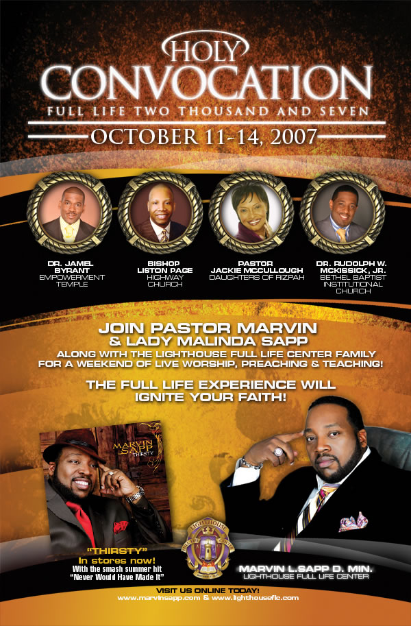 Pastor Marvin Sapp Invites You to Holy Convocation Full Life 2007 ...