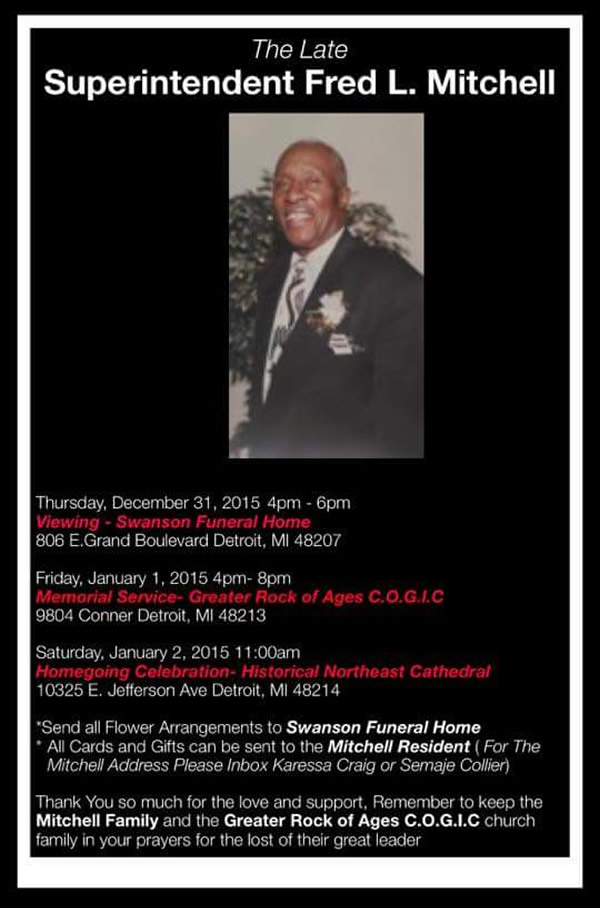 The Late Superintendent Fred L  Mitchell – DetroitGospel com