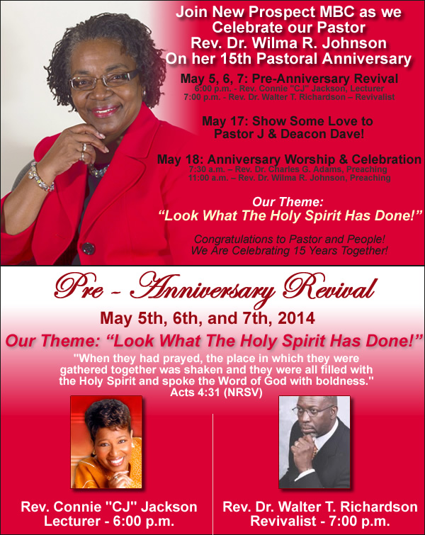"""Pastor Anniversary Themes And Scriptures Theme & scripture: """"look what"""