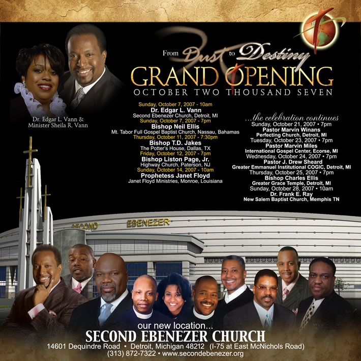 From Dust To Destiny Second Ebenezer Church Grand Opening October 2007