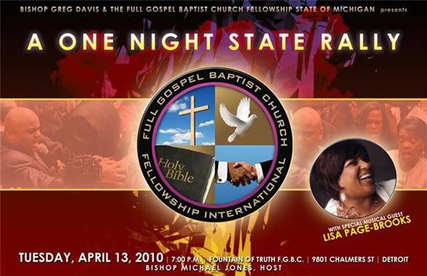 Bishop Greg Davis & The Full Gospel Baptist Church Fellowship State of ...