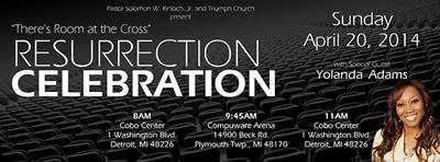 APR 20: Triumph Church welcomes Yolanda Adams for Resurrection Sunday services