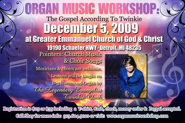 Organ Music Workshop by Twinkie Clark