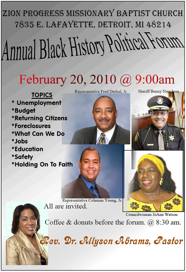 Annual Black History Political Forum
