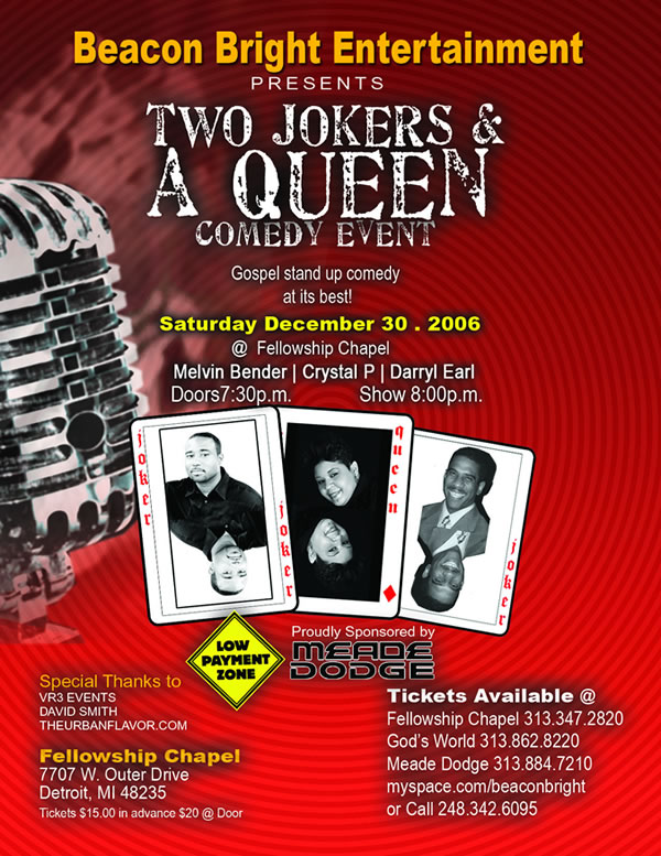 Gospel Comedy Flyer