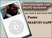 audio interview with Marvin Sapp